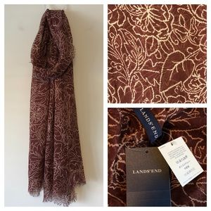 NWT Lands End Fall Scarf